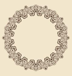 fine floral round frame decorative element for vector image