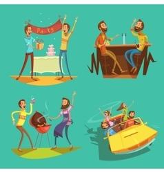 Friends cartoon set vector