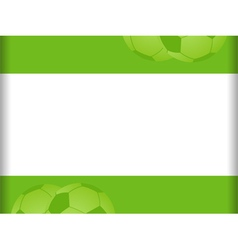 green and white football background vector image vector image