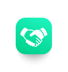 Handshake partnership icon vector