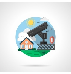 House security system color detailed icon vector image