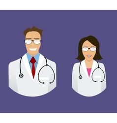 medical doctor profile icons vector image vector image