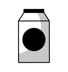milk box isolated icon vector image