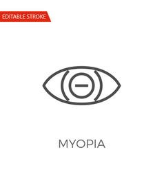 myopia icon vector image