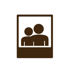 Silhouette frame photography couple people icon vector