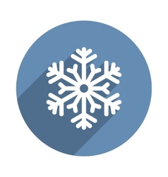 Snowflake Icon in Flat Design Style vector image