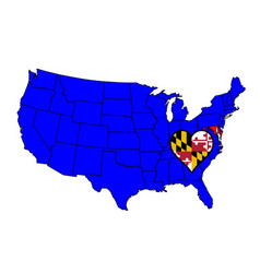 state of maryland vector image