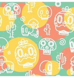 Sugar skulls seamless pattern vector