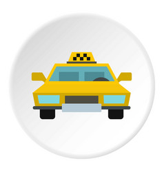 taxi icon circle vector image vector image