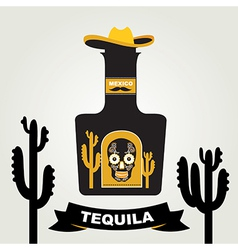 Tequila menu design mexican drink vector