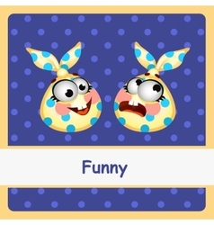 Two funny characters on a dark blue background vector