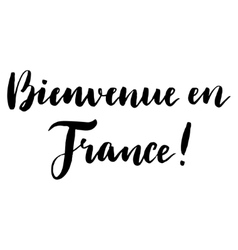 Welcome to France print in French vector image