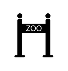 zoo gate icon vector image