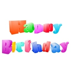 Happy birthday isolated on white background vector