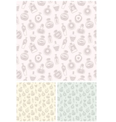 Seamless perfumes pattern vector
