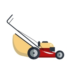 Lawn mower machine icon technology equipment tool vector