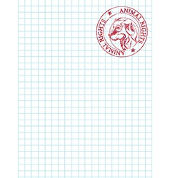 Math paper with stamp vector