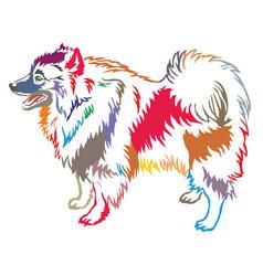 Colorful decorative standing portrait of vector