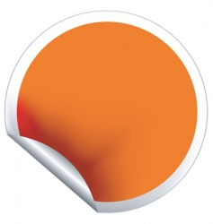 Orange label vector
