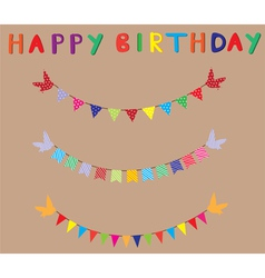 bunting birthday card vector image