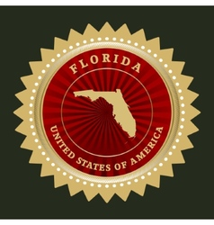 Star label Florida vector image