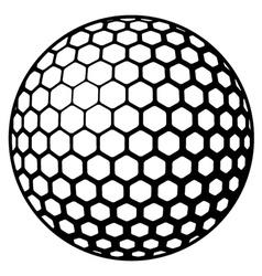 golf ball symbol vector image