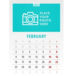 Calendar 2015 template week starts monday vector