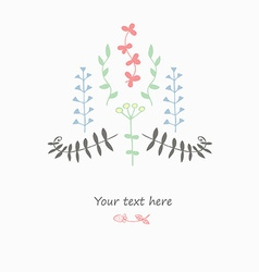 Gentle decor with flowers vector