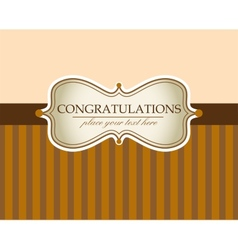 Greeting card in sepia color vector