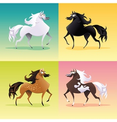 Family of horses vector