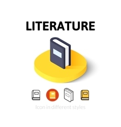 Literature icon in different style vector