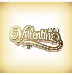 Happy valentines day hand lettering - vector