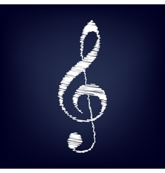 Violin clef icon vector