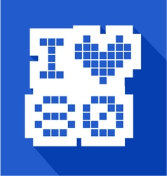 Blue love 80 icon vector