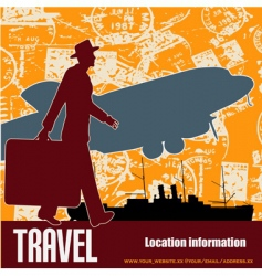 Retro travel vector