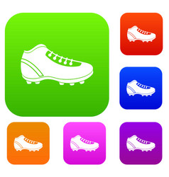 Baseball cleat set color collection vector