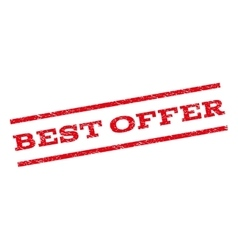 Best Offer Watermark Stamp vector image
