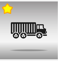 Black truck lorry icon button logo symbol concept vector