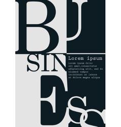 Business background typographics vector