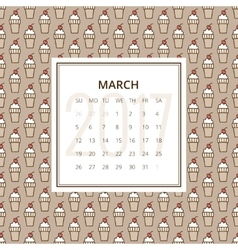 calendar 2017 year vector image vector image