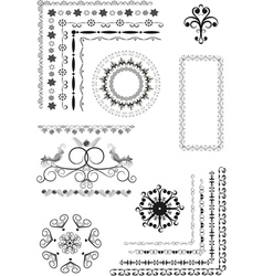 Decorative border frame ornament vector