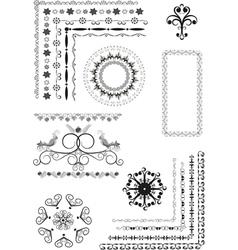 Decorative border frame ornament vector image