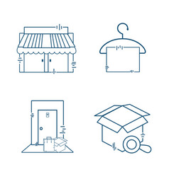 Delivery logistics global transportation services vector