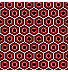 Design seamless hexagon geometric pattern vector