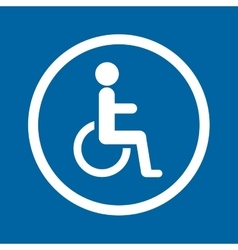 disable person traffic signal vector image