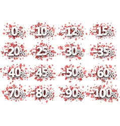 Discount signs paper set vector image