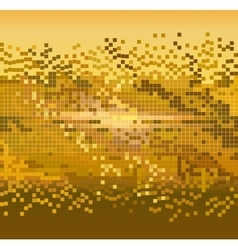 golden pixels background vector image vector image