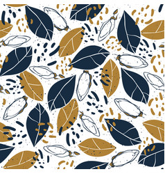 hand drawn botanical seamless pattern vector image vector image