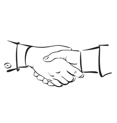 Handshake Hand drawn sketch vector image