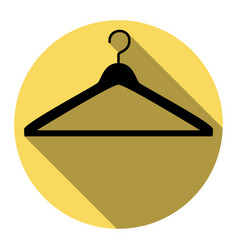 hanger sign flat black icon vector image